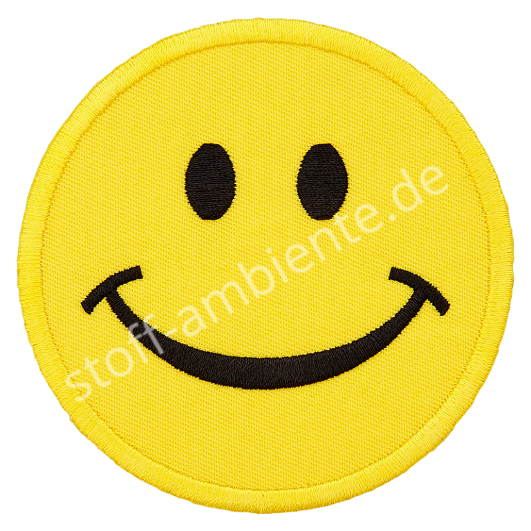 Applikation Union Knopf Smiley 75 mm