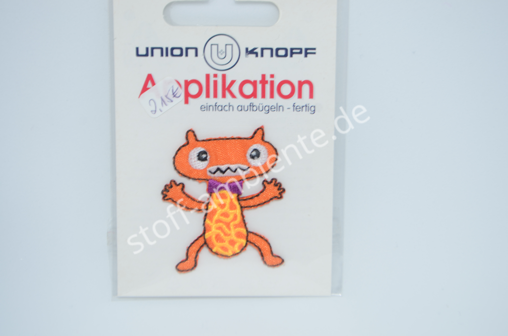Applikation Union Knopf, Monster orange