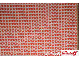 Jersey Lillestoff Apple Liefde orange, Biojersey, Design Bora