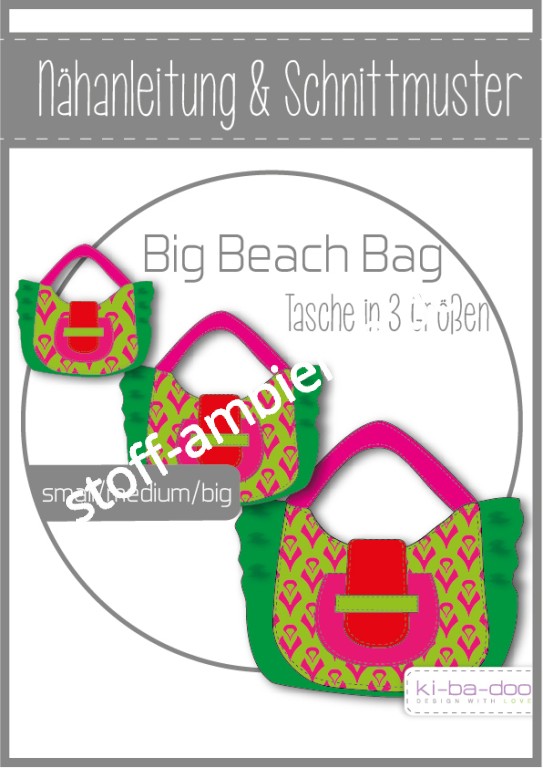 Schnittmuster kibadoo ki-ba-doo Big Beach Bag