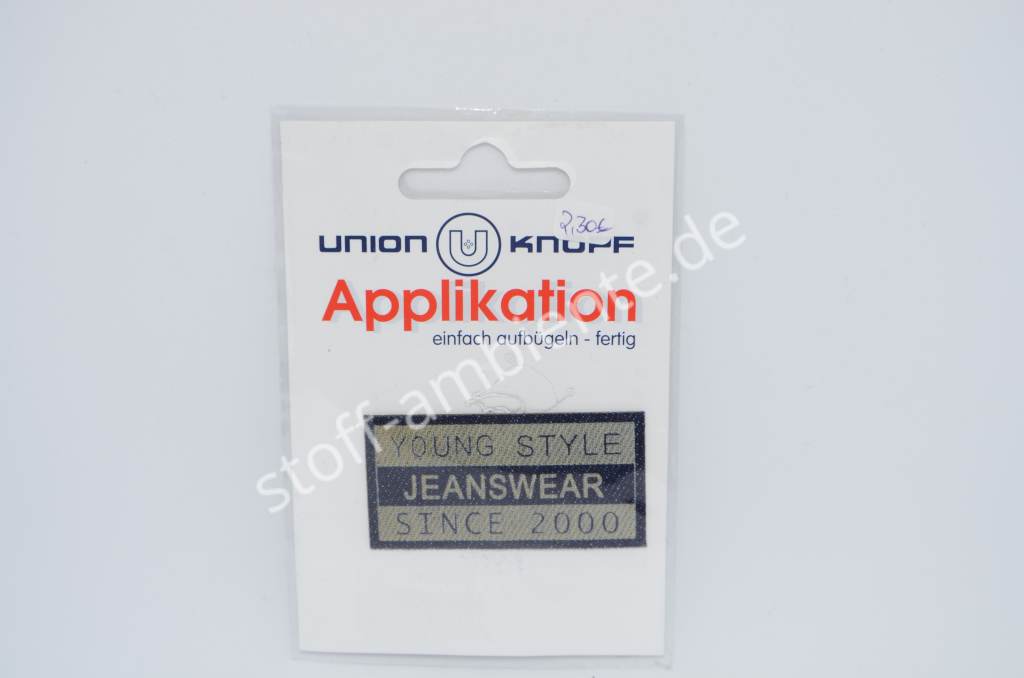 Applikation Union Knopf, Young Style Jeanswear