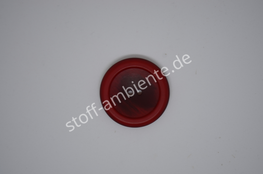 Knopf Union Knopf, Polyester, rot, 34 mm, 2-Loch