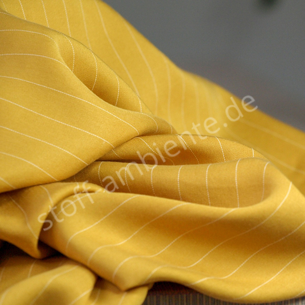 TENCEL™ Lyocell Meet Milk PIN Stripe Twill amber