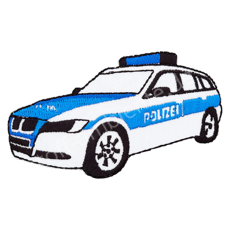 Applikation Union Knopf Polizeiauto
