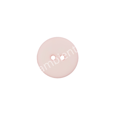 Knopf Union Knopf, Polyester, rosa, 18 mm, 2-Loch
