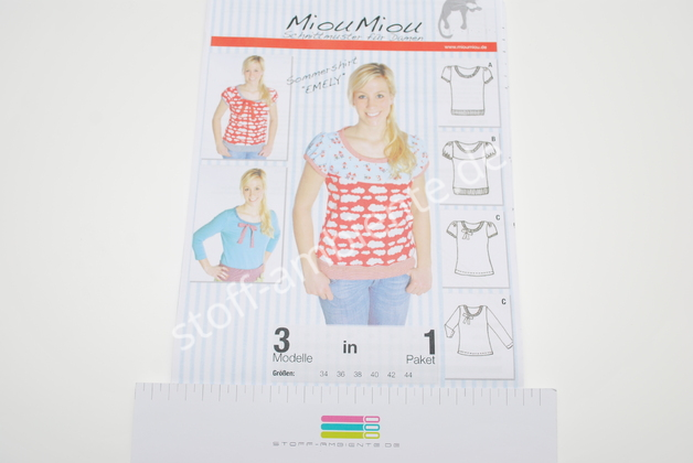 Schnittmuster MiouMiou Sommershirt Emely V 8020