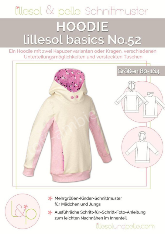 Schnittmuster lillesol & pelle Hoodie Basics No.52